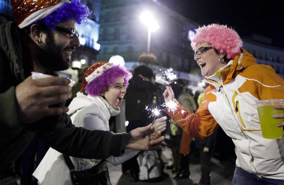 Как в испании встречают новый год